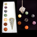 Filigree Cage Cone Pendulum / Jewellery - Chakra (Box Set)