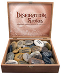 Inspiration River Stone Display - Assorted (40/display)