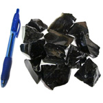 Mineral and Fossil Treasures - Black Obsidian Rough (Size 2) (12 pcs)