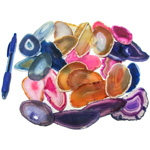 Mineral and Fossil Treasures - Agate Slice (Size 1) (28 pcs)