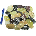 Mineral and Fossil Treasures - Onyx and Marble Worry Stones (Size 1) (36 pcs)