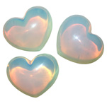 Puffy Heart Stones - Opalite (6)
