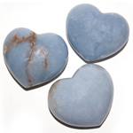 Puffy Heart Stones - Angelite (6)