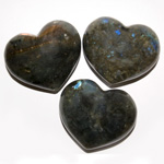 Puffy Heart Stones - Labradorite (6)