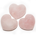 Puffy Heart Stones - Rose Quartz (6)