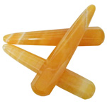 Wand - Round Edge Faceted - Orange Calcite