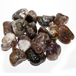 Tumbled Stone - Natural Fire Agate (1 lb)