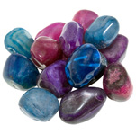 Coloured Agate Mix Tumbled Stones (1 lb)