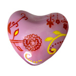 Harmony Heart - Pink - Flowers and Vines (6)