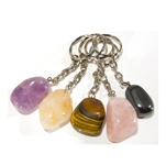 Tumbled Stone Keychains - Assorted (12)