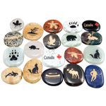 Canadiana Stone Magnets - Assorted (12)