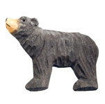 Hand Carved Wood Magnet - Bear