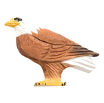 Hand Carved Wood Magnet - Eagle