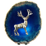 Pewter on Agate - Deer