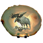 Pewter on Agate - Moose