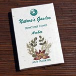 Natures Garden Incense Cones - Amber (5)