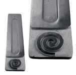 Black Soapstone Flat Incense Holders - Spiral (3)