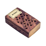Wood Fretwork Box w/ Resin - Amber and Myrrh (3)