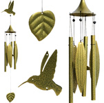 Leaf Wind Chimes - Hummingbird