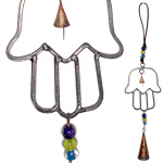 Rustic Cone Bells on Hamsa