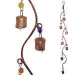 Rustic Cylinder Bells on Curved Wire
