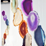Agate Wind Chimes - (Large) Rainbow (mixed)