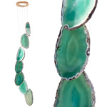Agate Wind Chimes - (Medium) Green