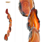 Agate Wind Chimes - (Medium) Red (rust)
