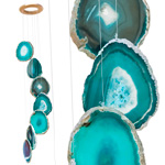 Agate Wind Chimes - (Medium) Teal