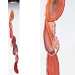 Agate Wind Chimes - (Small) Red (Rust)