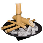 Zenature Fountain - Bamboo with light and white quartz