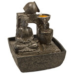 Zenature Fountain - Meditation Buddha Light Fountain