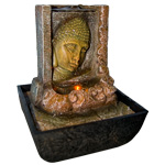 Zenature Fountain - Meditation Buddha Face Light Fountain