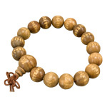 Wood Japa Mala Bracelet - Buddhist Prayer Beads