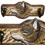 Animal Wood Key Hooks - Wolf (2)