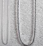 Necklace Chain - Flat (18 inch) Silver Plated (6)