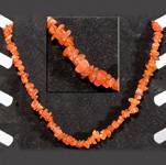 Gemstone Chip Necklace (18 inch) - Carnelian (3)