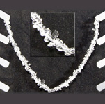Gemstone Chip Necklace (18 inch) - Clear Quartz (3)