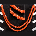 Gemstone Chip Necklace (36 inch) - Carnelian