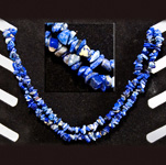 Gemstone Chip Necklace (36 inch) - Lapis Lazuli