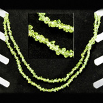 Gemstone Chip Necklace (36 inch) - Peridot