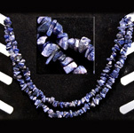 Gemstone Chip Necklace (36 inch) - Sodalite