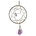 Dream Catcher Pendant - Amethyst