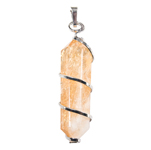 Silver Twist Point Pendant - Citrine