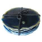 Agate Slice Coasters - Blue (set of 4)