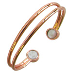 Magnetic Copper Bangle - 2 wire
