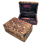 Carved Wood Box - Tree of Life
