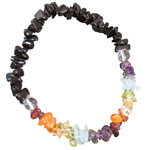 Chakra Gemstone Chip Black Tourmaline Bracelet (3)