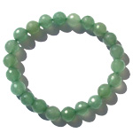 Gemstone Faceted Bead Bracelet - Green Aventurine