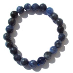 Gemstone Faceted Bead Bracelet - Sodalite